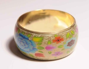 Image of Enamel Floral Bangle