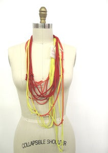 Image of Recycled T-shirt Necklace :::Plain T-LACE