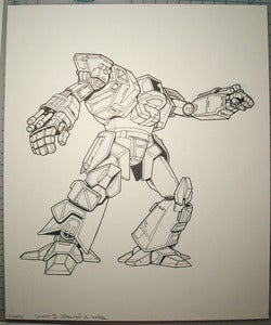 Image of Dasher II original Battletech artwork