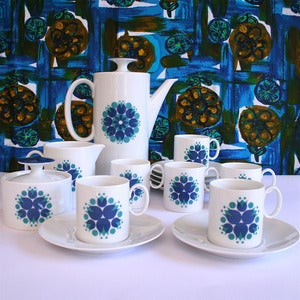 Image of Vintage Thomas of Germany Sunflower Coffee Set