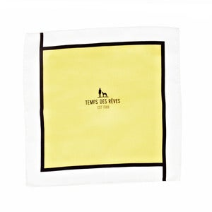 Image of Yellow White Pocket Square