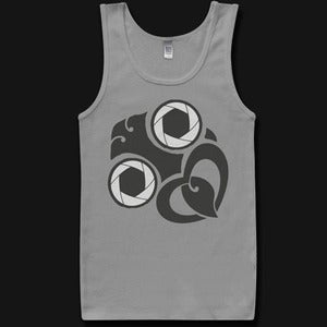 Image of Mens Shutterbug Singlet - Grey