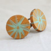 Image of bronze cufflinks
