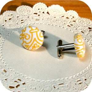 Image of Custom Button Cufflinks {great for wedding parties}