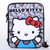 Image of HELLO KITTY FACE COLORED BOWS IPAD SLEEVE