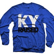 Image of LONG SLEEVE Ky Raised in Ky Blue, White & Black