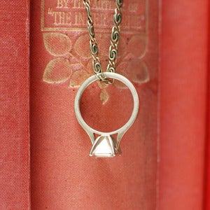 Image of Forever Yours: Ring Pendant - Brass