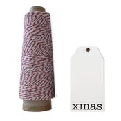 Image of Xmas Tag set of 10 with Bakers twine
