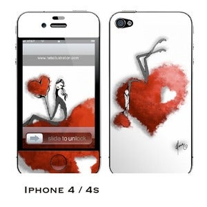 Image of iphone 4/4s skin - &quot;Hearts&quot;