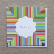 "Image of ""Stripes"" Thank You Card"