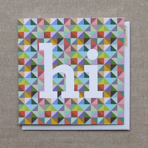"Image of ""Geometric Hi"" Everyday Card"