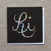 "Image of ""Cursive Hi"" Everyday Card"
