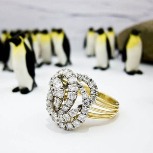 Image of Gold Diamond Cartier Ring