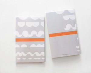 Image of Shapes Notebook - Salmon - SOLD OUT