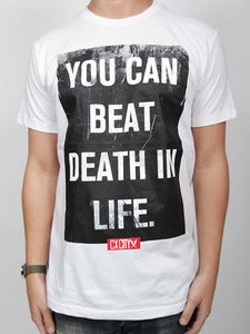 Image of LIFE BEATS DEATH (White)
