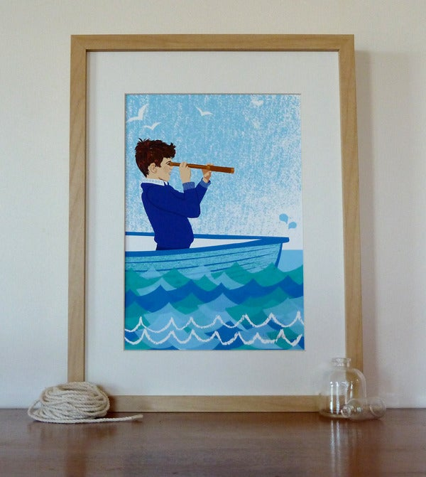 Image of Boy In Boat Art Print