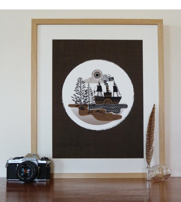 Image of Paddleboat Art Print