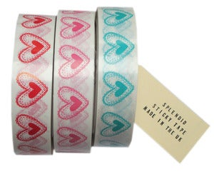 Image of harriet heart print sticky tape.