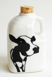 Image of Cow Face Milk Bottle