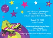 Image of Roller Skate Invitation