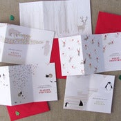 "Image of ""Winter Wonderland"" Holiday Card Set of 5"
