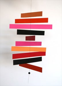 Image of MOBILE EN PAPIER ROUGE/ROSE/ORANGE REF.905