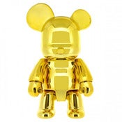 Image of Metallic Gold Qee Bear 7&quot;