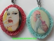 Image of Vampire Zombie Ladies Horror Cameo Necklaces