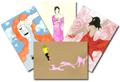 Image of SONG CANVAS: set of 6 A6 postcards