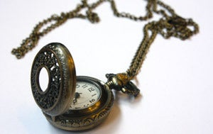 'Antique' locket watch