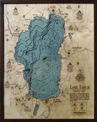 Image of Lake Tahoe, CA/NV Wood Map
