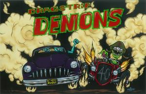Image of DRAGSTRIP DEMONS PRINT ** ONLY 5 LEFT **