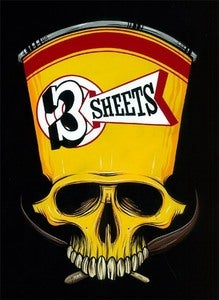 Image of 3-SHEETS SKULL PRINT ** ONLY 1 LEFT **