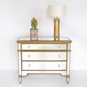 Image of Cary Silver Mirrored Chest