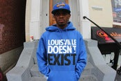 Image of louisville doesnt exist blue hoody