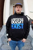 Image of LOUISVILLE DOESNT EXIST black hoody