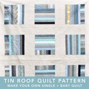 Image of tin roof modern quilt pattern PDF