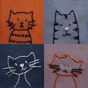 Image of Cats embroidery pattern PDF