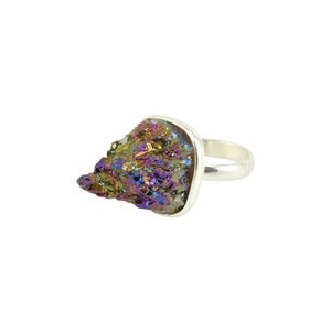 Image of Ortia. Rainbow Quartz Ring