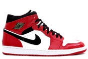 Image of Air Jordan 1 Retro White/ Black- Varsity red