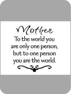 Image of Mother - To The World...