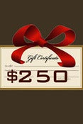 Image of Gift Certificate $250