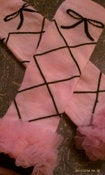 Image of PINK BALLERINA Leg Warmers with Chiffon Ruffle