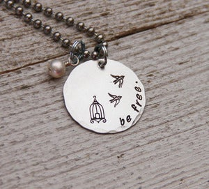 Image of Be Free (charity) necklace