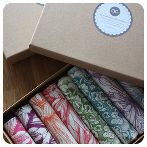 Image of Boxed Gift Set of EIGHT Tea-towels
