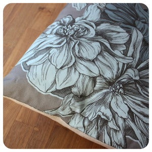 Image of Dahlia Cushion | Duck Egg Blue