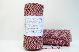 Image of Strawberry Truffle Pink and Brown Bakers Twine by Timeless Twine