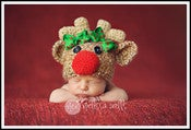 Image of Reindeer hat with removable bows