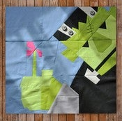 "Image of Carl Frankenstein's Flower 24"" x 24"" Quilt Block Pattern PDF"