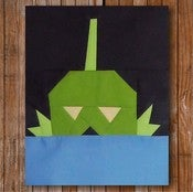 "Image of Larry the Creature 8"" x 10"" Quilt Block Pattern PDF"